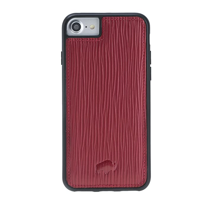 iphone 7 leather case red
