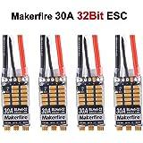 Makerfire 4pcs BLHeli-32 32Bit 30A ESC Brushless ESC Dshot1200 Electronic Speed Controller 2-4S for FPV Multicopter Quadcopter