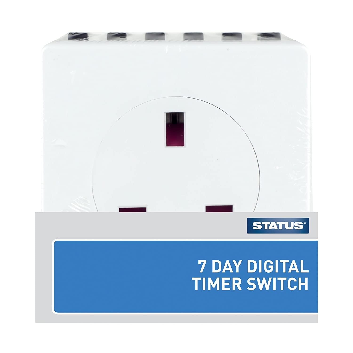 Status S7ddt3 7 Day Digital Timer Switch White Diy 13 Amp Plug Top Bs1363 Stevenson Plumbing Electrical Supplies Tools