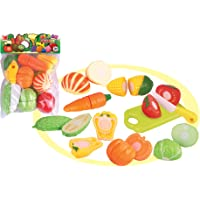 Popsugar 10pcs Sliceable Vegetables Gift Set with Cutting Board and Knife Toy for Kids,