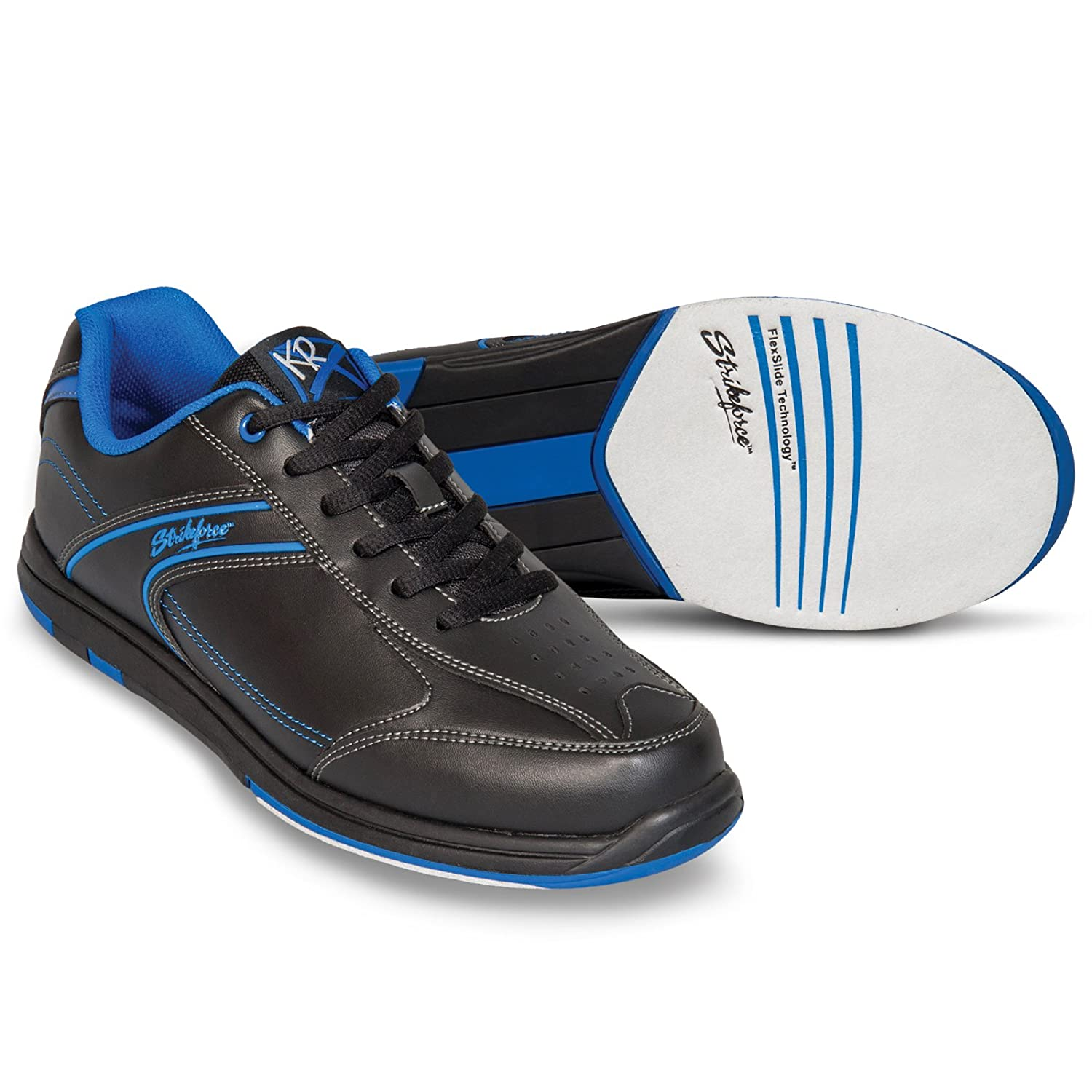KR Strikeforce M-033-130 Flyer Bowling Shoes, 黒/Mag 青, Size 13