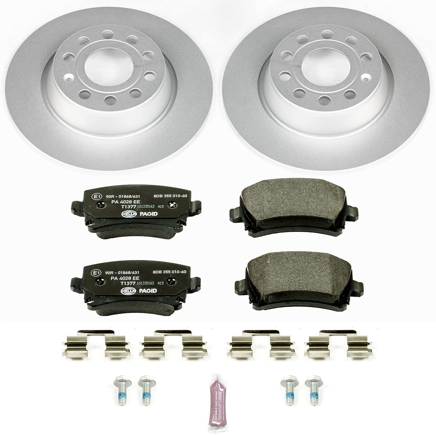 FULL KIT DRILLED SLOTTED BRAKE ROTORS /& CERAMIC BRAKE PADS D4020 BLACK ELINE