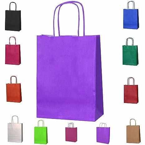 11 x colores trenzado papel partido botín bolsas de regalo ...