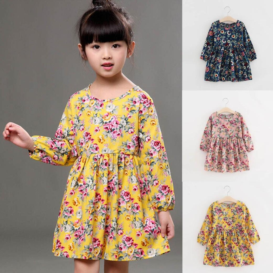 Lavany Toddler Baby Girls Dress Winter Princess Party Pageant Dresses Kids Clothes