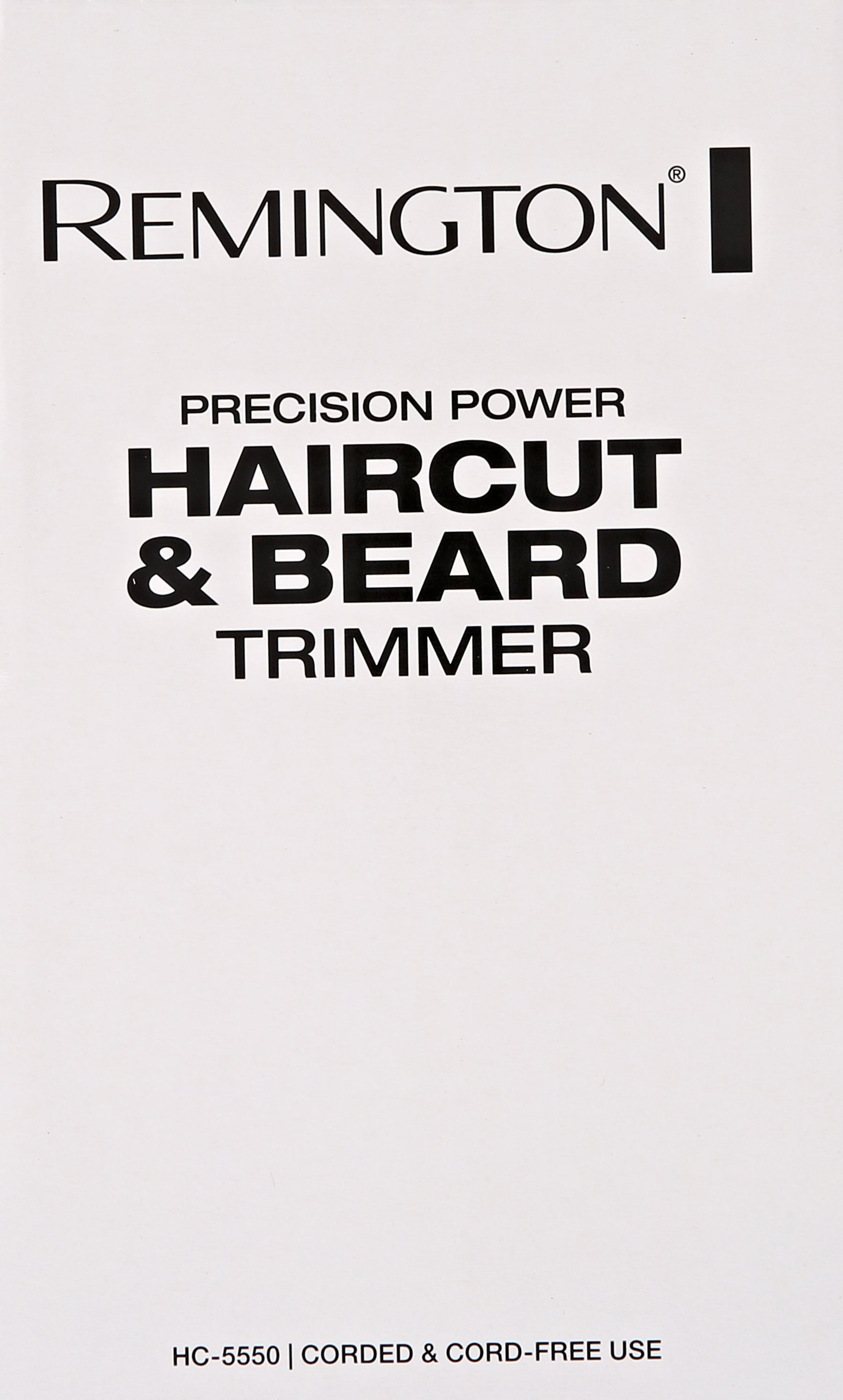 Remington HC5550AM Precision Power Haircut & Beard Trimmer, Hair Clippers, Beard Trimmer, Clippers by Remington (Image #5)