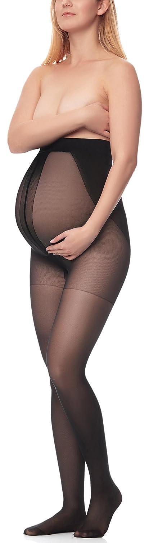 Antie Damen Schwangerschaft Strumpfhose 40 DEN M5109 AN-FI-M5111-Black-4