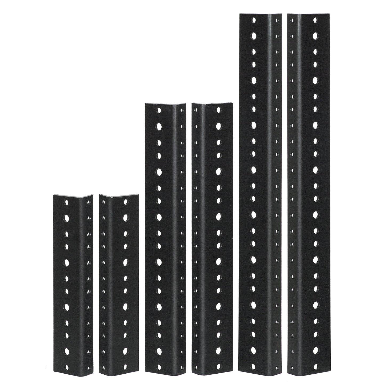 Reliable Hardware Company RH-10-SRR-A 10U Pair Full Hole Rack Rail