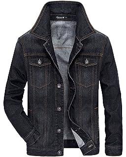 41fada79666 Zicac Men's Fleeced Denim Jacket Winter Fall Warm Cowboy Coat Outerwear  Parka