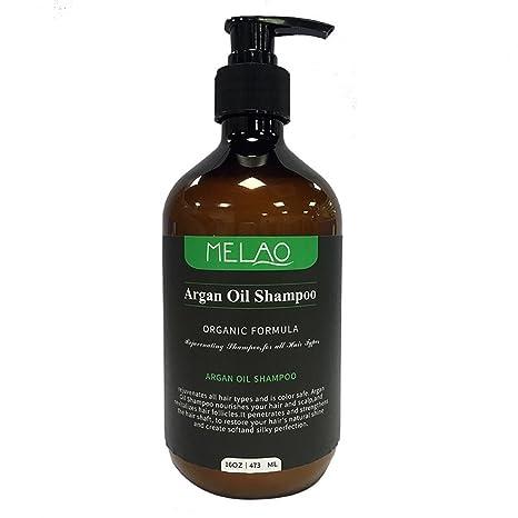 Champú de aceite de argán con fórmula reparadora para todo tipo de cabellos, argan-
