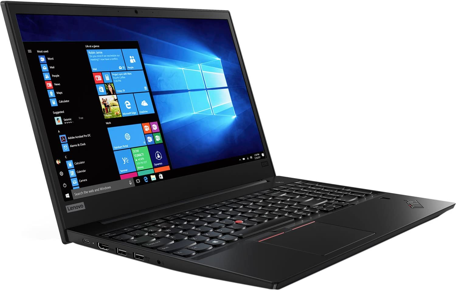 Lenovo ThinkPad E580 15.6 inch High Performance Business Laptop, Intel Core i5 7th Gen, 16GB DDR4, 512GB SSD, DVDRW, WiFi, Gigabit LAN, HDMI, USB C, Fingerprint Reader, Windows 10 Pro, Thin and Light