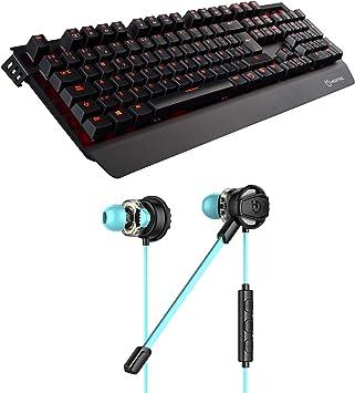 Hiditec   Teclado Gaming con Cable GK500 y Auricular Gaming ...