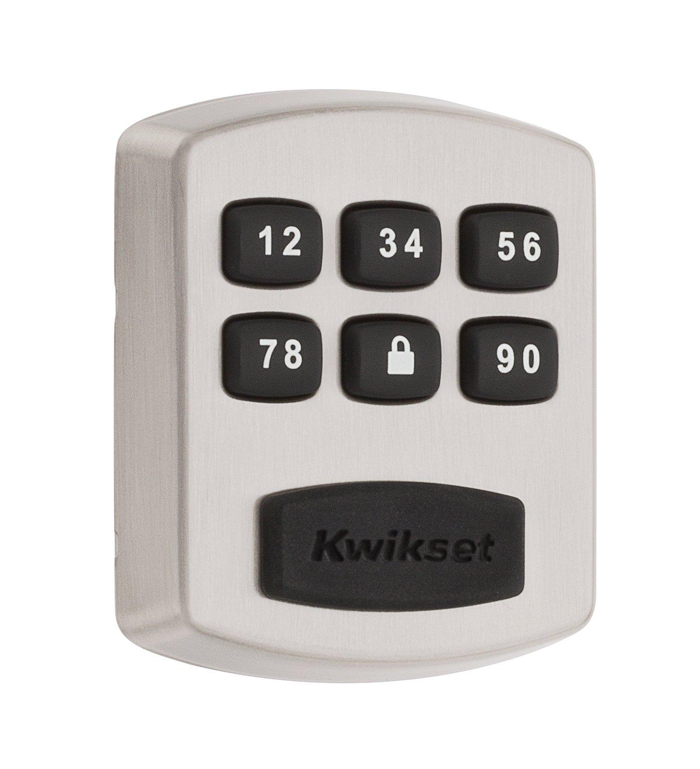 Kwikset 99050-003 Model 905 Value Lock Keyless Entry Electronic Keypad Deadbolt for Garage or Side Door, Satin Nickel