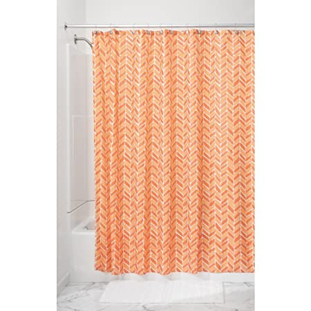 InterDesign Nora Long Shower Curtain, Fabric Shower Curtains, Made ...