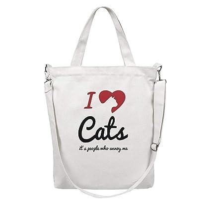 f7a04b0d3858 Amazon.com: 12.5X15 Inches Cute Zip Crossbody Canvas Large Tote Bag ...