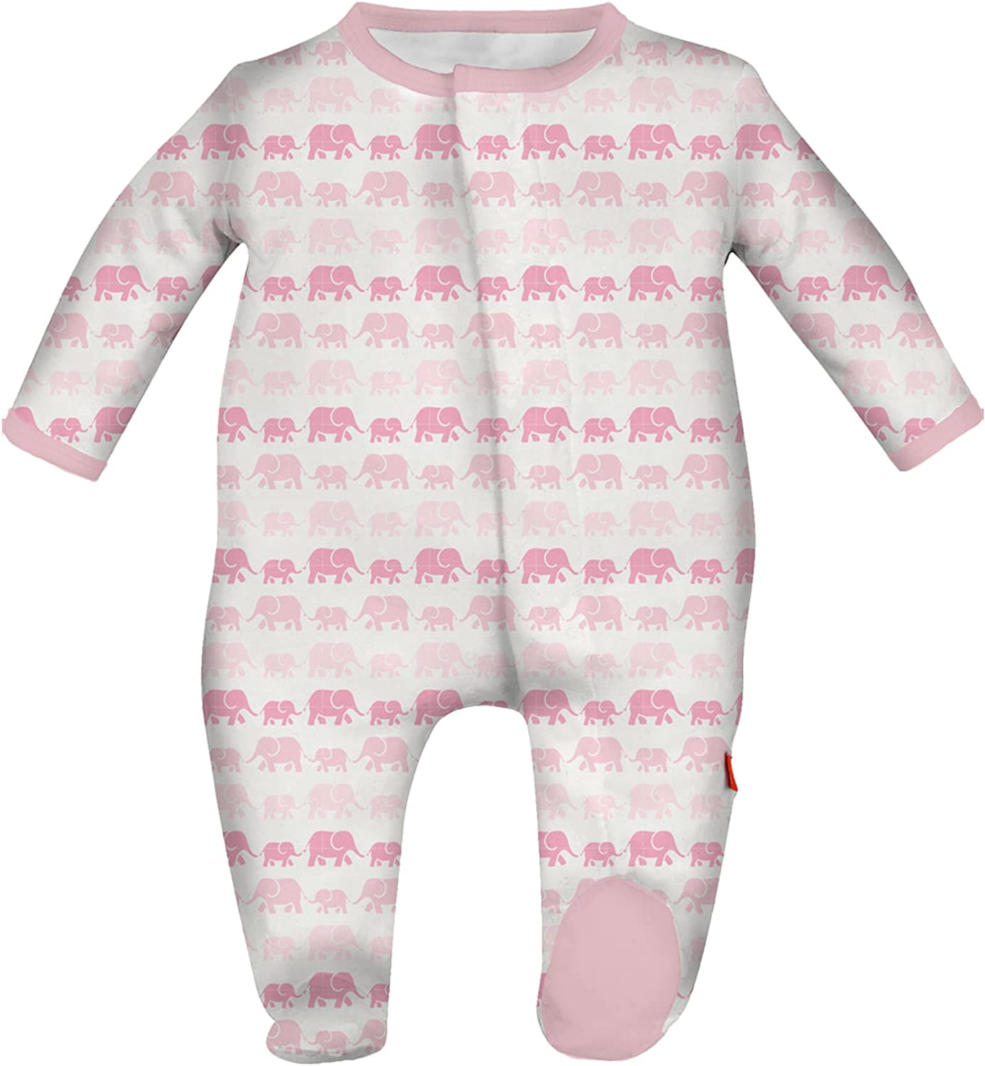 Magnificent Baby Baby Girls Magnetic Bedford Floral Footie