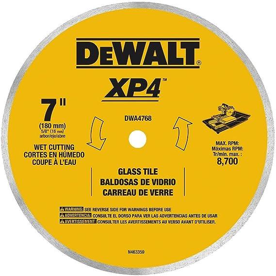 DEWALT DWA4768 Continuous Rim Glass Tile Blade