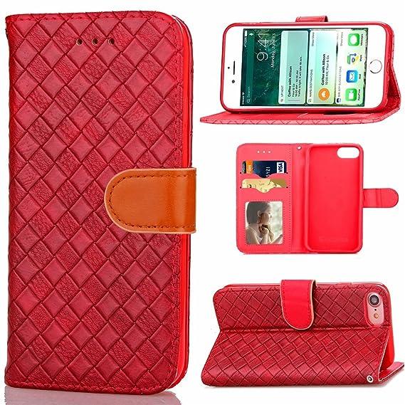 Amazon Com Sry Fashion Case Premium Leather Grid Braided Flip