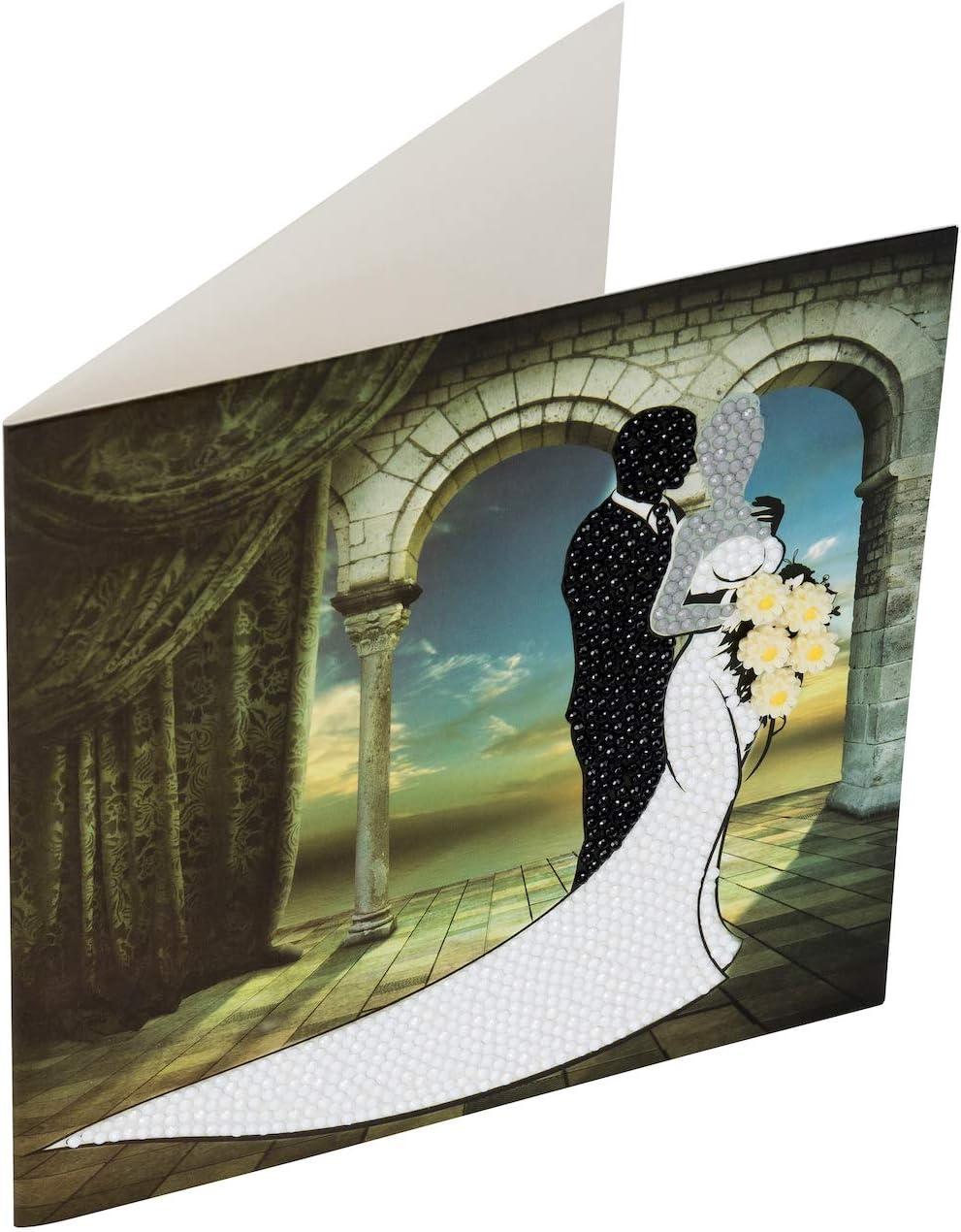 Crystal Art Kit pour carte Art D/éco illustrant une dame 18/x/18/cm
