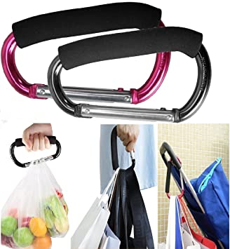 Hanging Carabiners Carabiner Cart Accessories Stroller Hooks Shopping Bag Clip