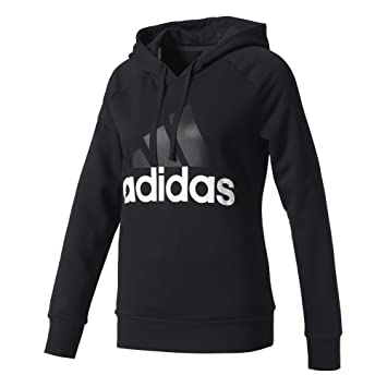4772b64f0941 Adidas Women Essentials Linear Hoodie Sweatshirt - Black