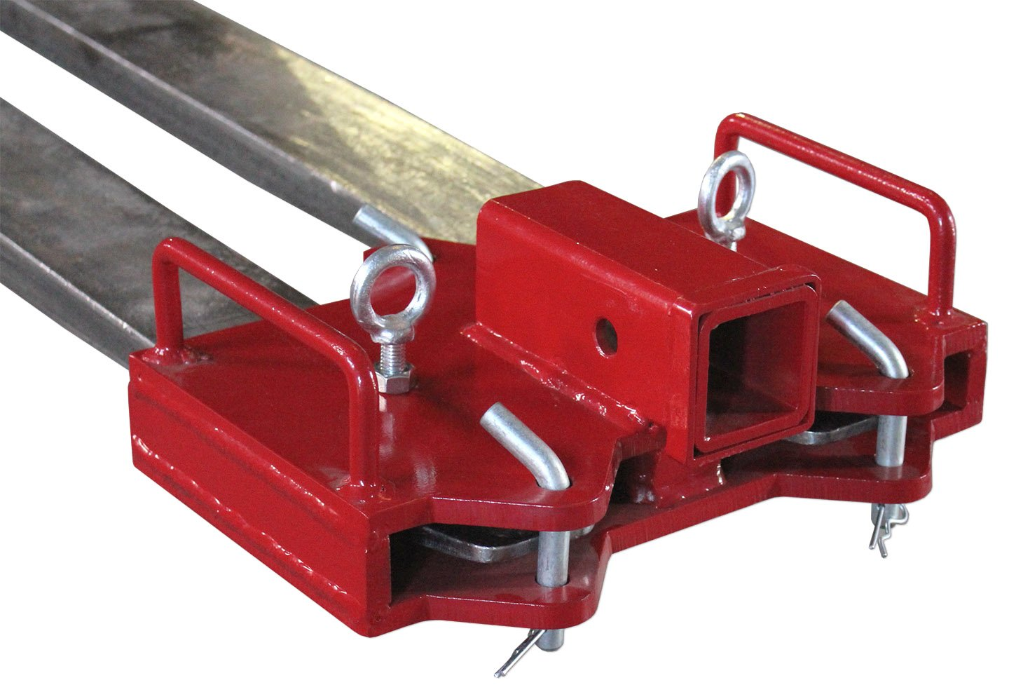 Titan Forklift 2'' Trailer Hitch Receiver for Dual Pallet Forks Towing Gooseneck