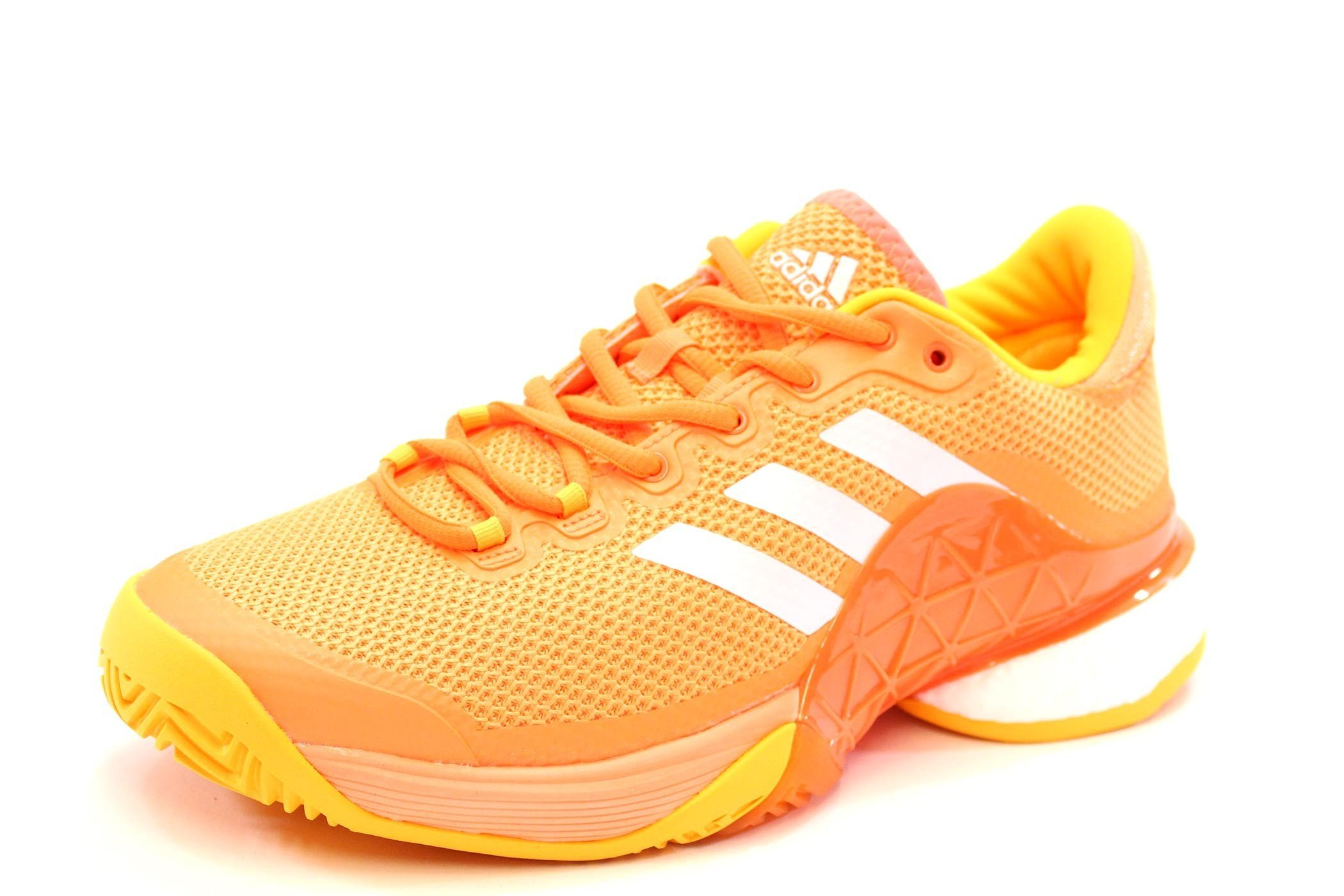 027af32f1 Galleon - Adidas Men s Barricade 2017 Boost Men s Tennis Shoe Glow Orange Footwear  White Solar Gold