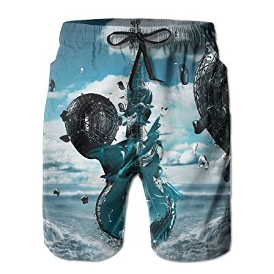 c82dd6a898 3D Creative Guitar Men's Swimwear Beach Short Gym Home Pants Sports Yoga  Sweatpants