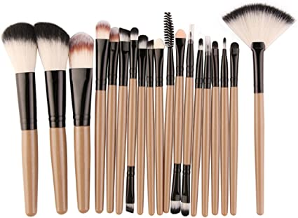 15/18Pcs/Pack herramienta Pinceles Set maquillaje cosmético Eye Shadow Podwer Blush Fundación mezcla belleza Maquillaje Brocha Maquiagem JH 5445: Amazon.es: Belleza