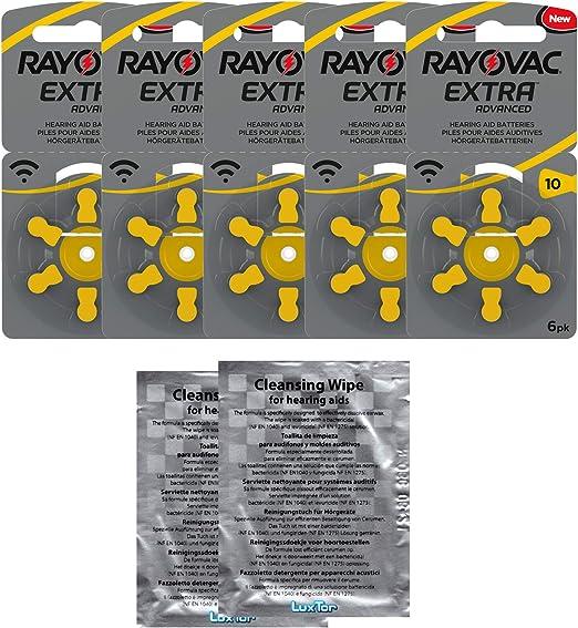 Rayovac Extra Advanced Zink Luft Hörgerätebatterie In Der Größe 10 5er Pack Mit 30 Batterien Geeignet