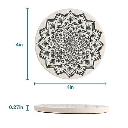 AINIMI posavasos de cerámica natural absorbente, juego de 4 posavasos Color 2: Amazon.es: Hogar
