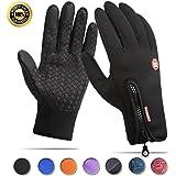 Achiou Cycling Gloves Touchscreen Winter Warm Bicycling Bike Gloves Outdoor Sports Running Climbing Skiing for Men Women