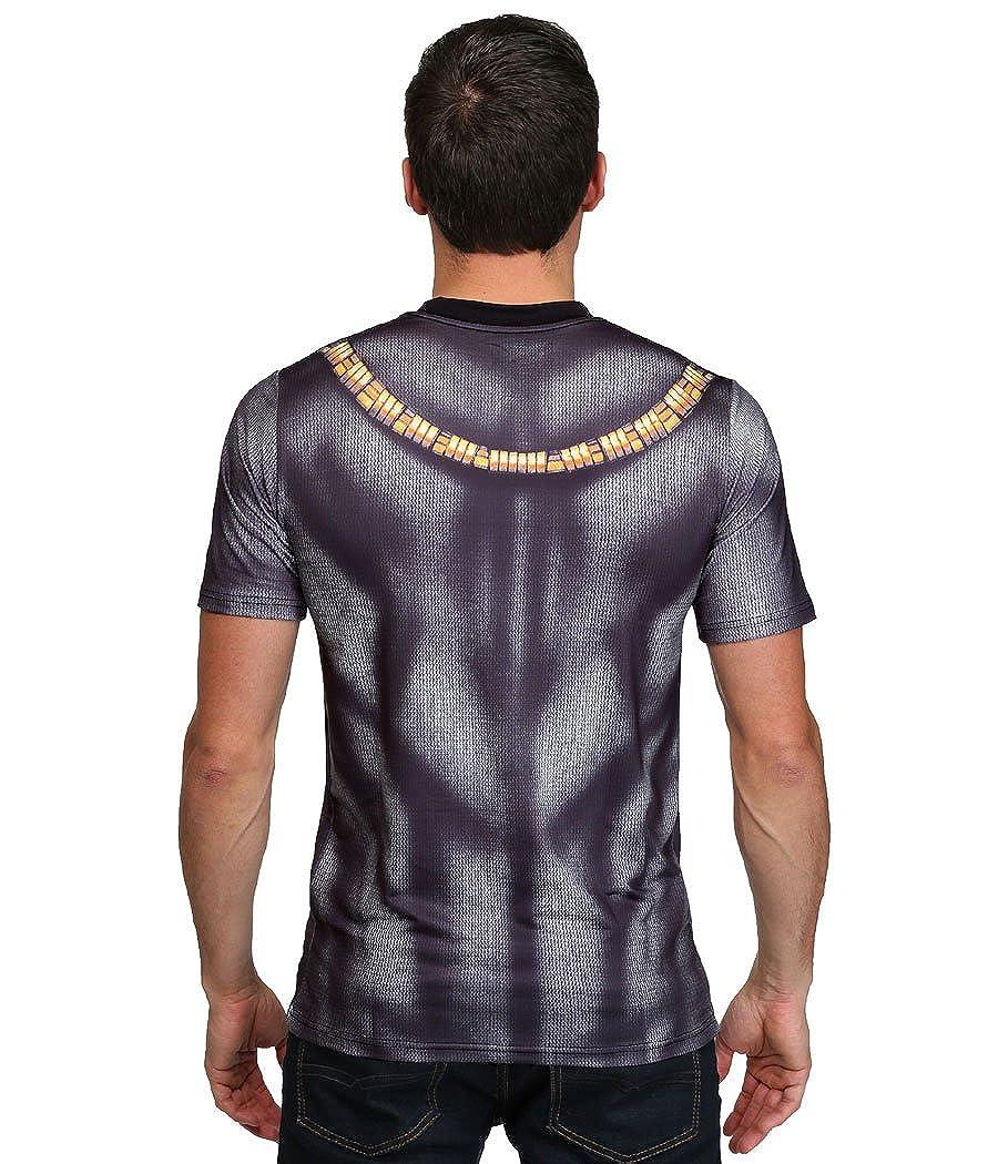 d7e0447dc3120 Amazon.com  Marvel Black Panther Sublimated Costume T-Shirt  Clothing
