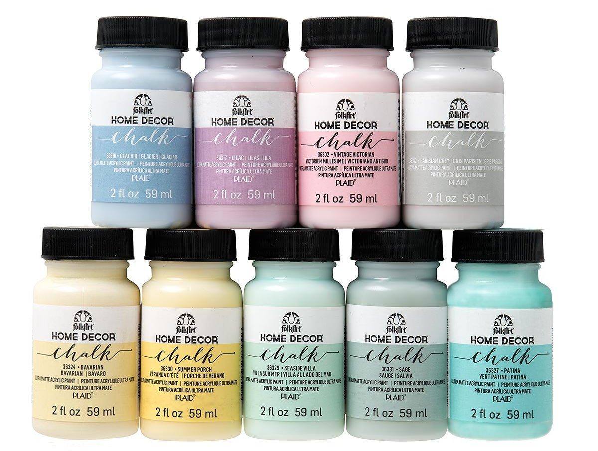 FolkArt PROMOFAHDC2 FA HD Chalk 9PC Set 2 oz, Top Pastels