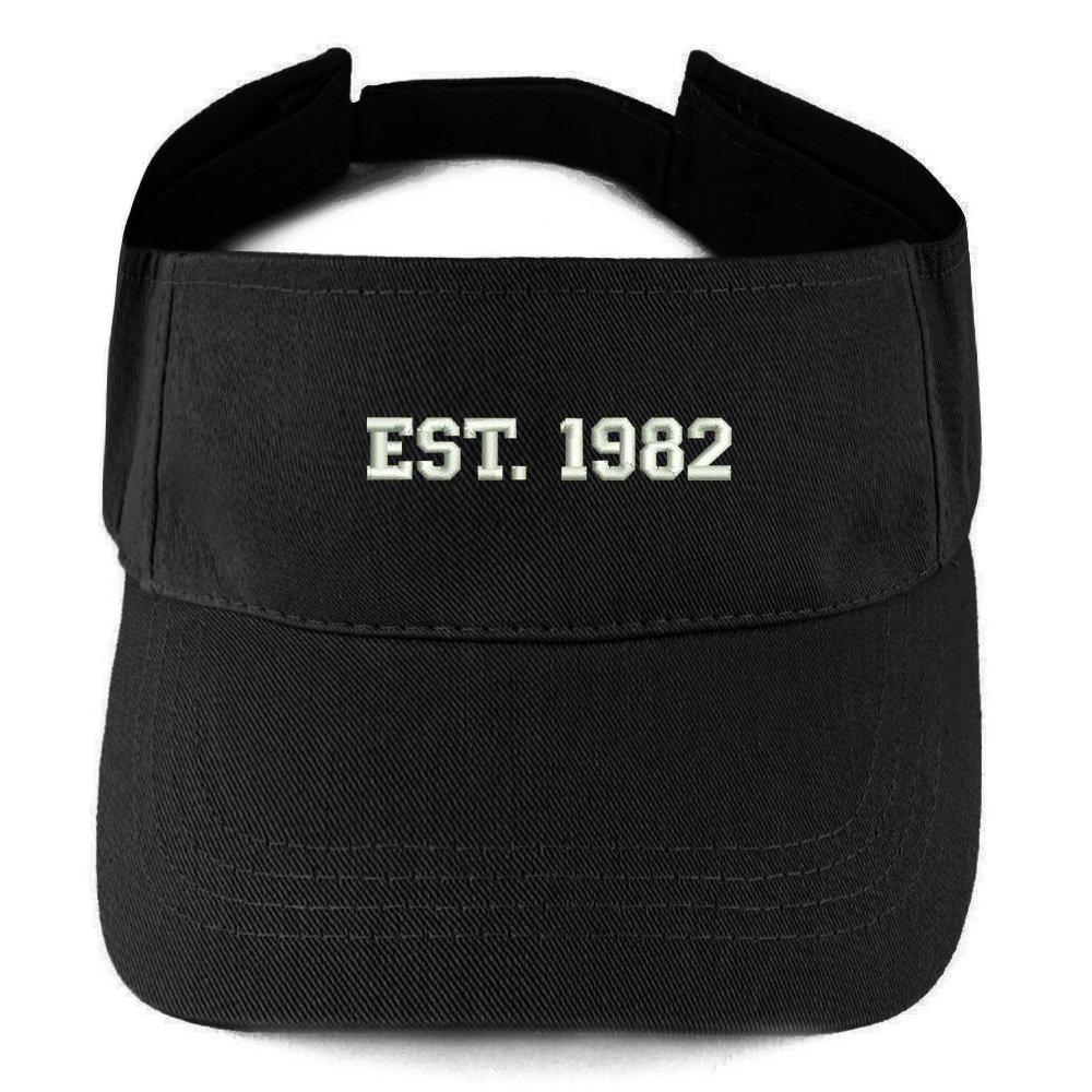 Trendy Apparel Shop EST 1982 Embroidered 37th Birthday Gift Summer Adjustable Visor