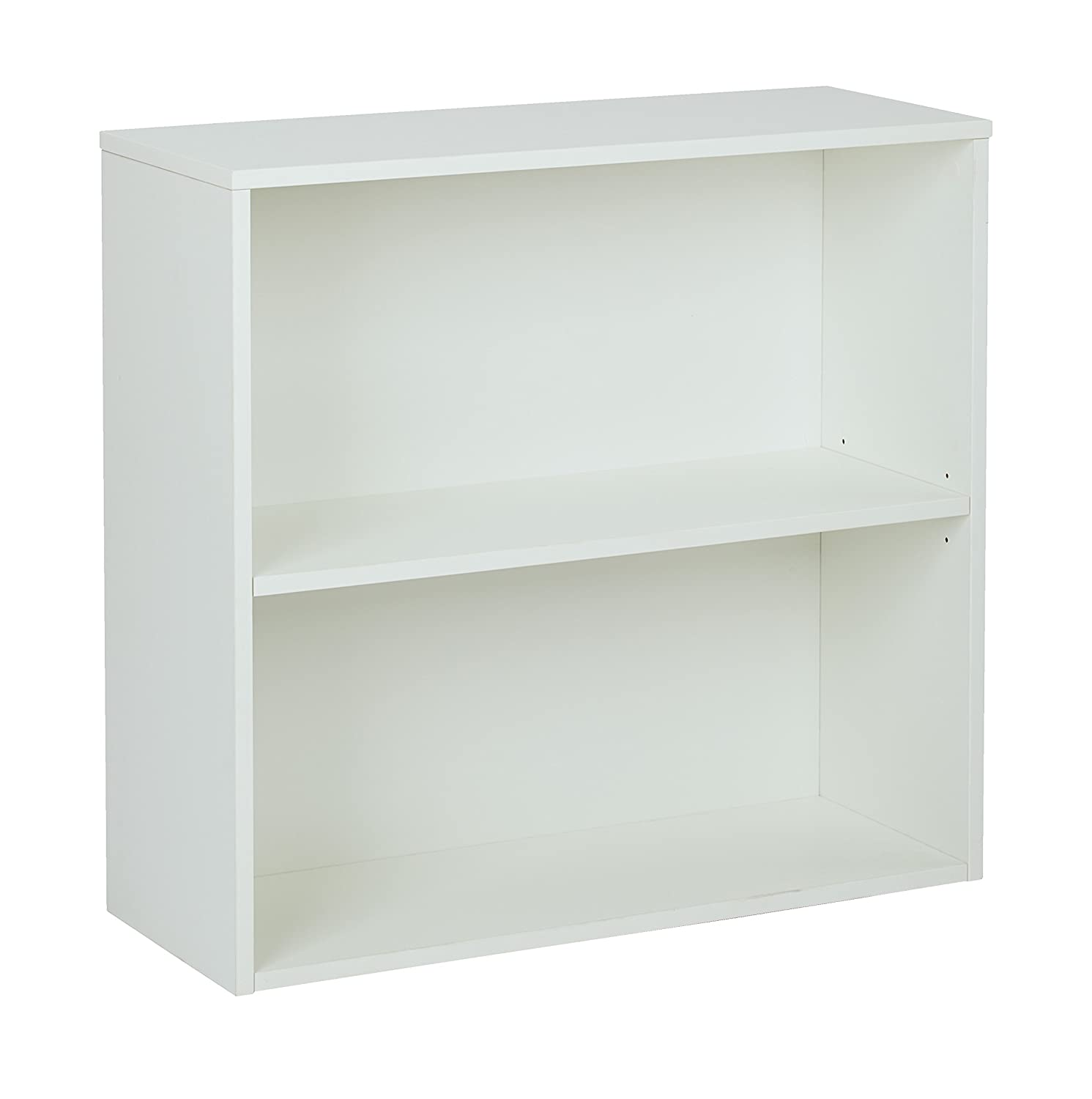 Office Star Prado 2 Shelf Bookcase, White Laminate Finish Office Star--DROPSHIP PRD3230-WH