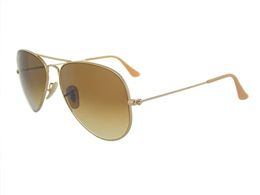 5fd0ed84932 New Ray Ban Aviator RB3025 112/85 Gold/Brown Gradient 55mm Sunglasses