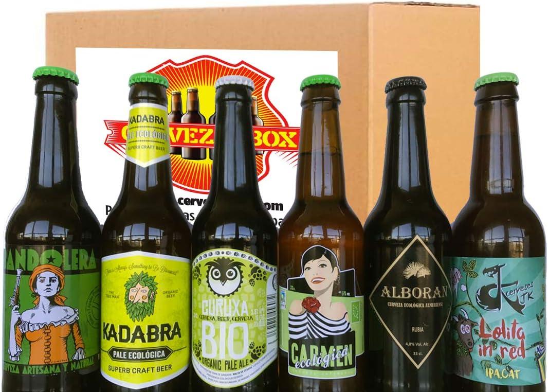 6 Cervezas ECOLOGICAS Artesanales Bio España PACK DEGUSTACION ...