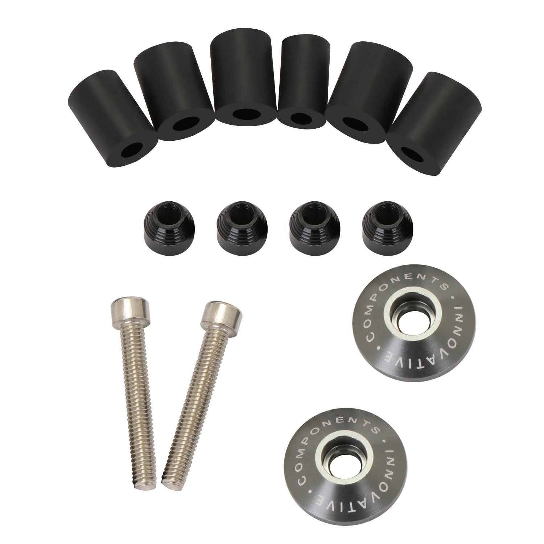 BRAUTO Tallado de 2pcs CNC Universal moto 7//8 22mm manillar pu/ños tapones tapones de barra Rojo