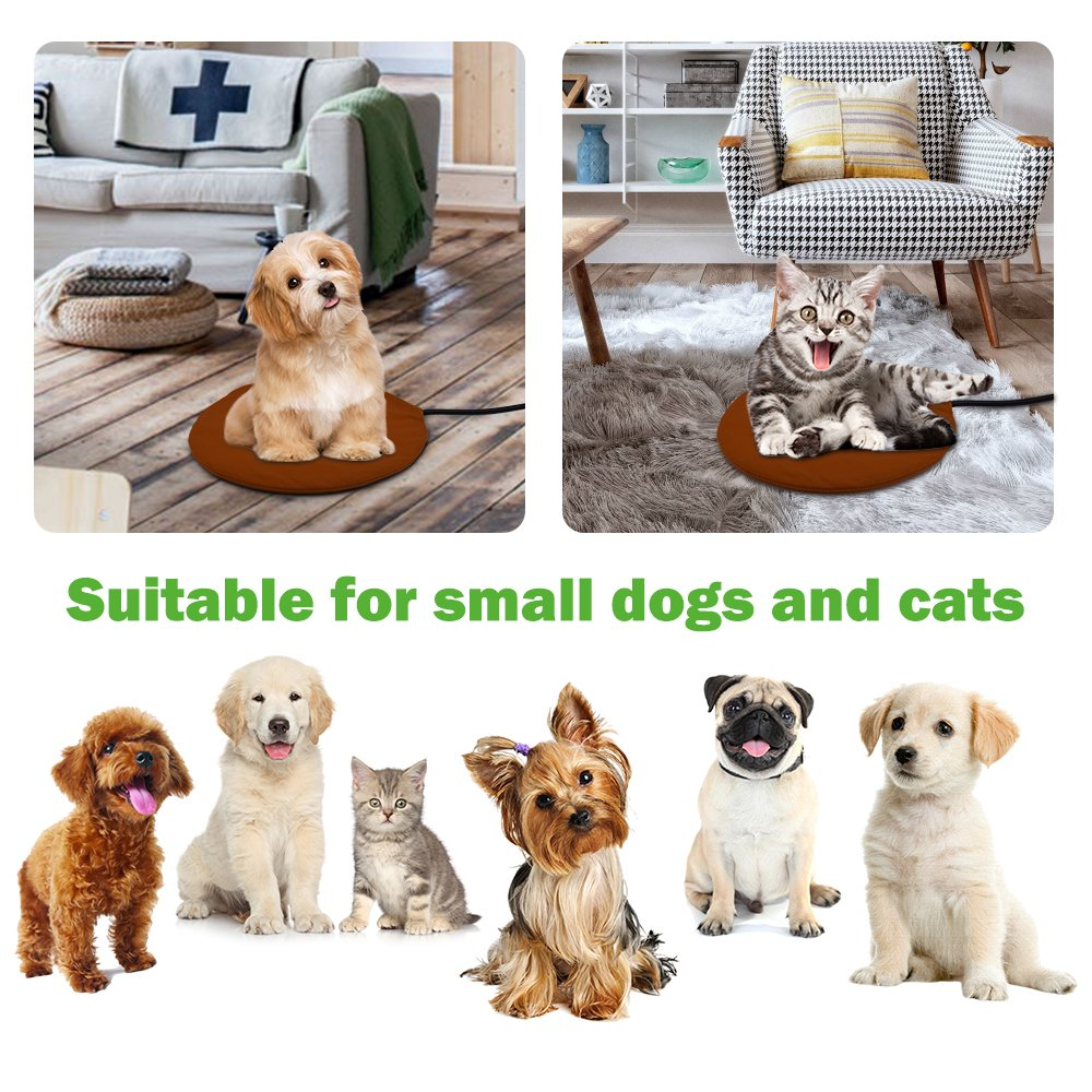 Pet Heating Pad, NuoYo Warming Pet Heat Mat for Dogs and Cats with 7 Level Adjustable Temperature Chew Resistant Cord Soft Removable Waterproof Electric Cover Overheat Protection 11.8 (30 cm)