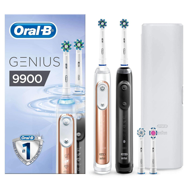 Oral-B Genius 9900 Cepillo de Dientes Eléctrico con Tecnología de Braun 2 Unidades