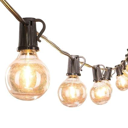 Amazon.com: Guirnalda de luces LED G40 a prueba de golpes ...