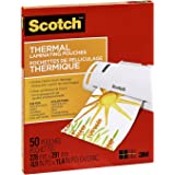 Scotch Thermal Laminating Pouches, 8.97-Inch x 11.45-Inch (Per Pouch), 3-Mil Thickness, 50 Pouches, (TP3854-50-C)