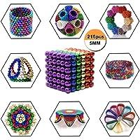 Cubo magnetico, AUSEIN Puzzle de Bolas Magneticas, de 216 Bolas 5MM descompresión para el tiempo libre Viajes Entretenimiento Estrés Alivio y desarrollo de inteligencia para niños (6 Colores, 1 Set)