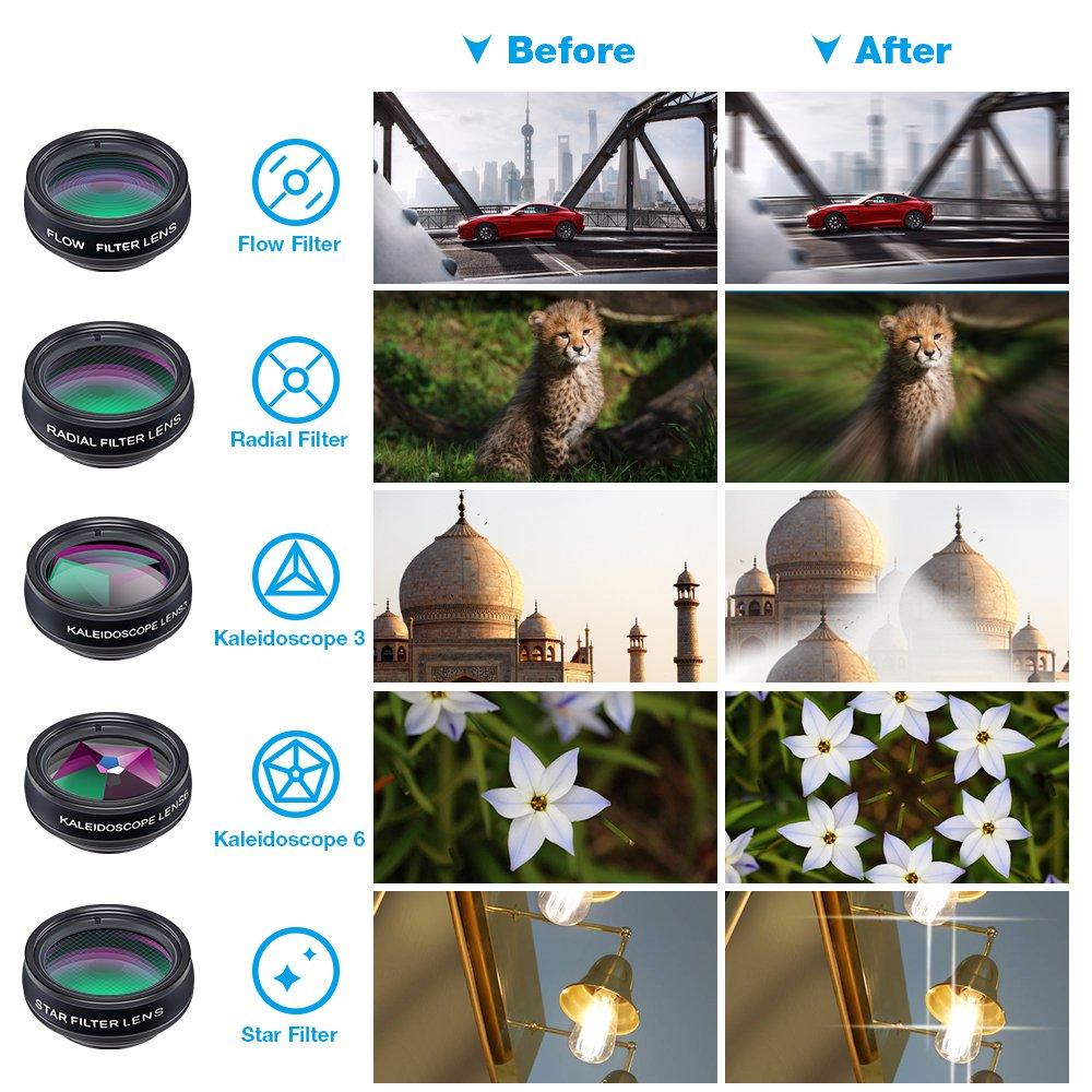 8 7 Plus 6S Samsung Galaxy S8 S7 Huawei et la plupart des smartphones Android Apexel Universal 18X Clip-On T/él/éphoto T/élescope Appareil photo T/él/éphone portable Zoom lens pour iPhone X