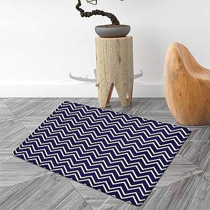 Tapis de Bain Bleu Marine pour sols avec Motif Zigzag ...