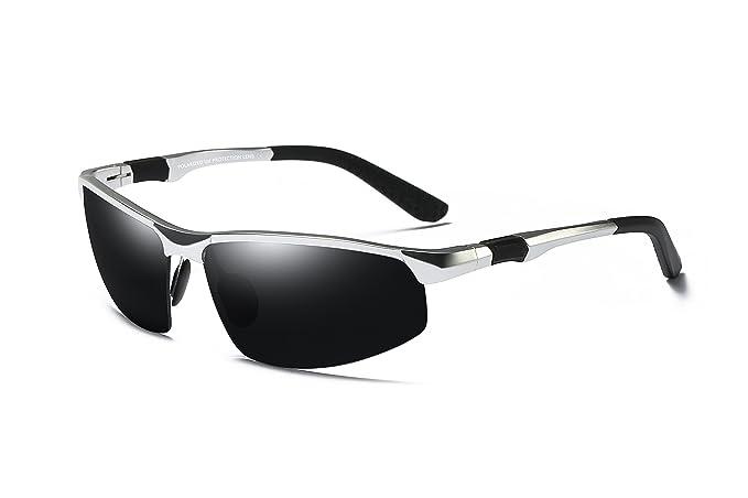 54bee8aed9 WHCREAT Occhiali Da Sole Polarizzati Da Guida Per Uomo Occhiali Da Sport  Per Esterni Telaio AL-MG Infrangibile