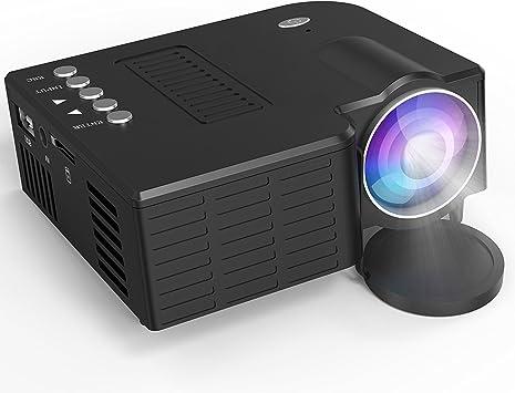 Busou Proyector LCD de 1800 lúmenes,Mini Proyector, soporta 1080p ...