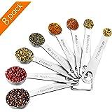 Measuring Spoons Set, 8 Set of Stainless Steel Teaspoon Measuring Spoon for Measuring Dry and Liquid Ingredients