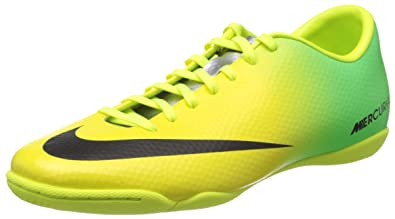 wholesale dealer c44d5 900ec Nike Mercurial Victory IV IC (Vibrant Yellow Neo Lime Metallic Silver Black