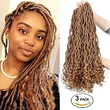 Amazoncom Wavy Crochet Hair Locs For Goddess Girls Women Curly